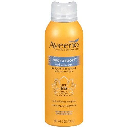 Aveeno sun hydrosport SPF 85 spray