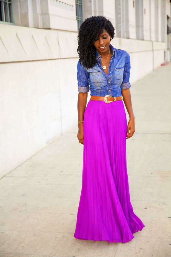 Wearing Pleated Skirts: Short, Medium and Long