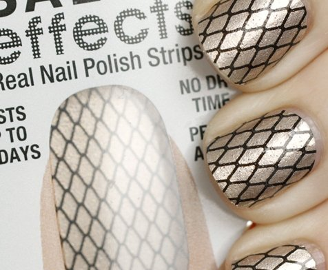sally hansen salon effects misbehaved nail polish strips Beauty Buzz: Stick on makeup