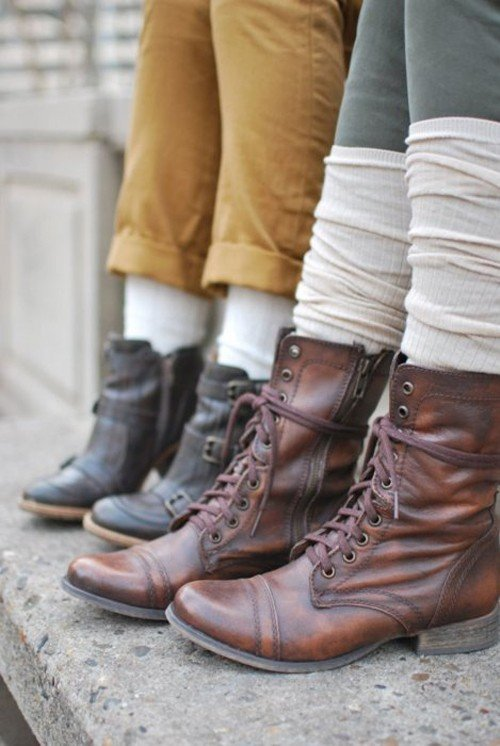 boots with socks fall fashion trend
