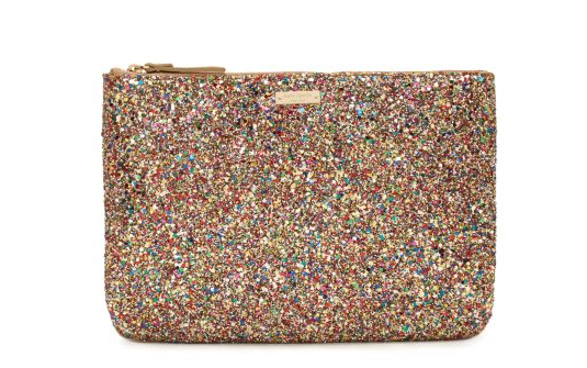 holiday gift ideas under 100 kate spade sparkle glitter clutch Holiday gift ideas for fashionistas