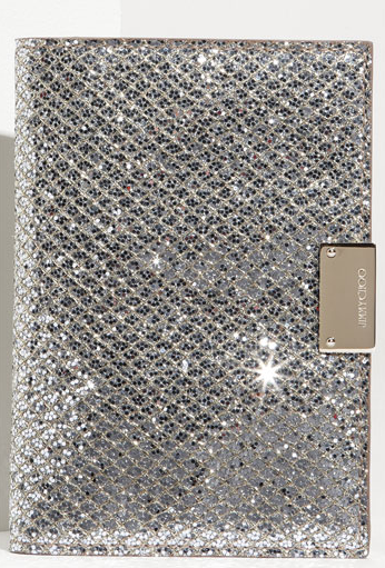 jimmy choo reno fabric passport holder Holiday sparkle