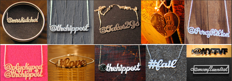 survival of hippest social media jewelery twitter necklaces Holiday gift ideas for fashionistas
