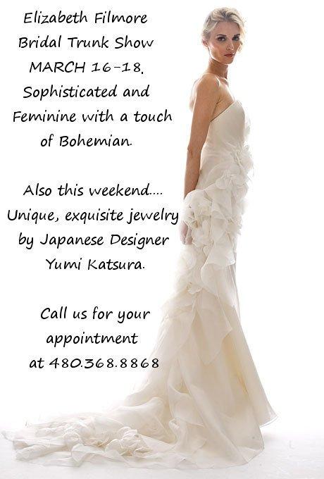 {Wedding Wednesday} Arizona Bridal Events March 16-18