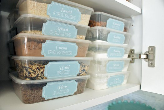 organize kitchen cupboard