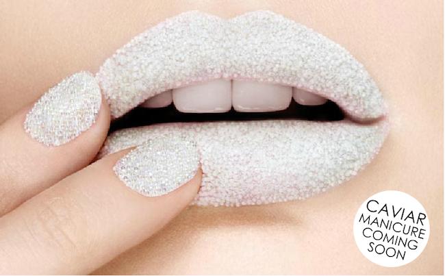 white ciate caviar manicure