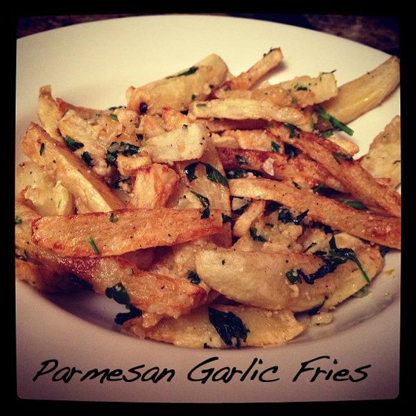 Baked Parmesan Garlic Fries Recipe