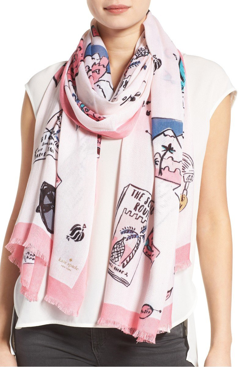 how to wear a summer scarf, beautiful kate spade summer scarf