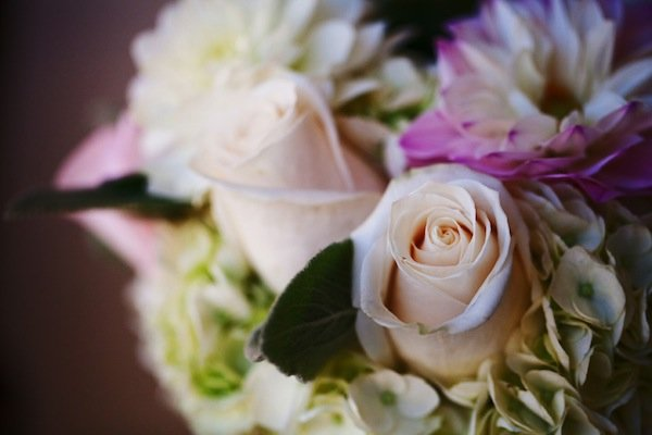 dahlia bridal bouquet © Jane Z Photography