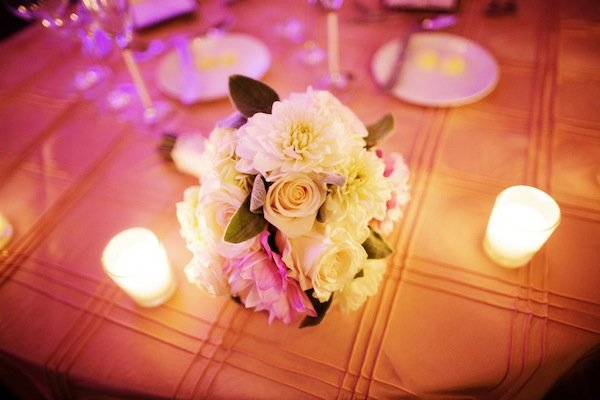 blush cream wedding flowers © Jane Z Photography