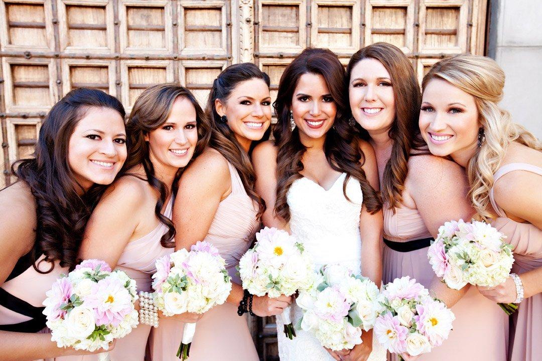 blush and ivory wedding flowers © Jane Z Photography