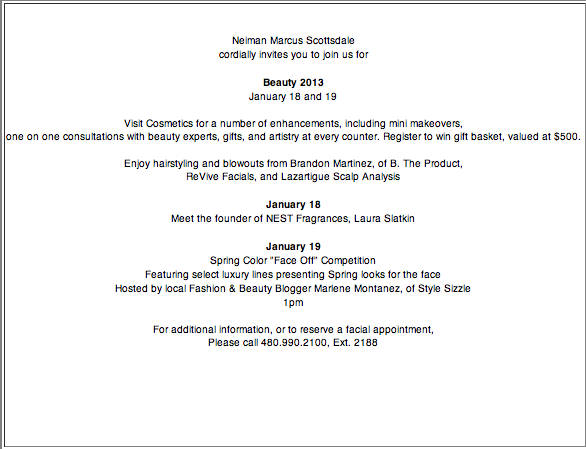 neiman marcus beauty face off hosted by stylesizzle