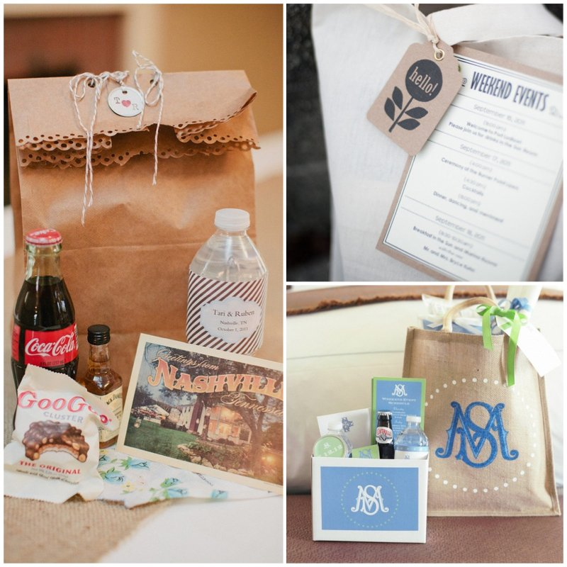 Wedding Welcome Gift Bags And Gift Bag Ideas Destination 2016 Car ...
