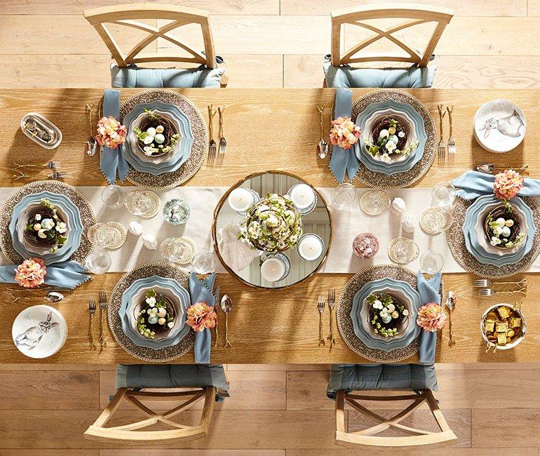 Elegant easter tablescape idea by Pier 1. Click to see even more Easter tablescape ideas and easter decor!
