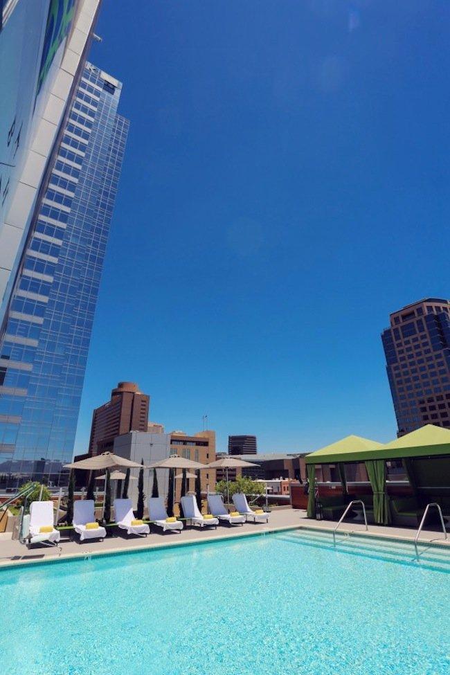 hotel palomar phoenix cityscape