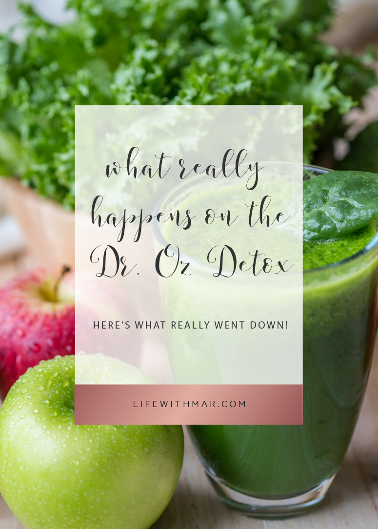dr. oz 3 day detox here's what really went down