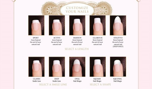 Short Square Length Acrylic Nails