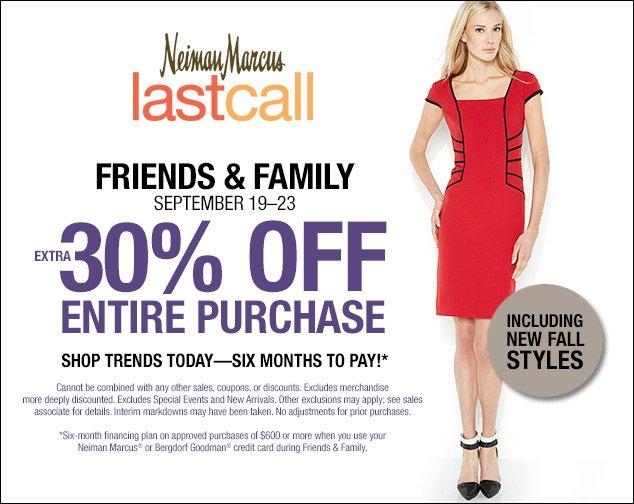Last Call Neiman Marcus Friends & Family Sale