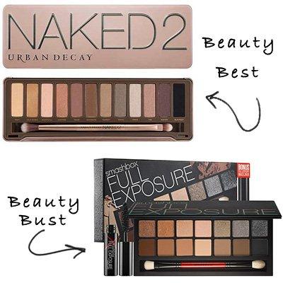 urban decay naked 2 palette vs. smashboxx full exposure palette
