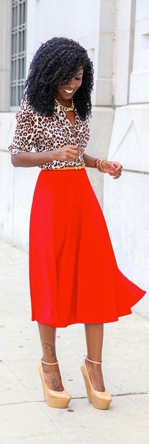 midi skirt fashion trend