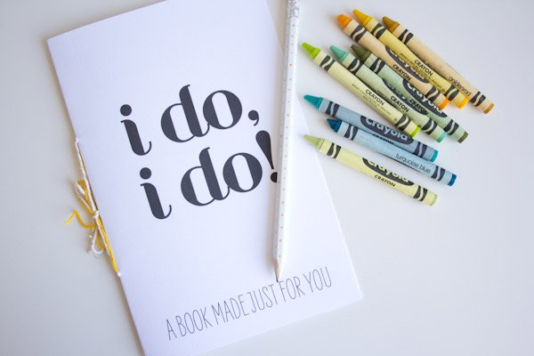 printable DIY wedding coloring book