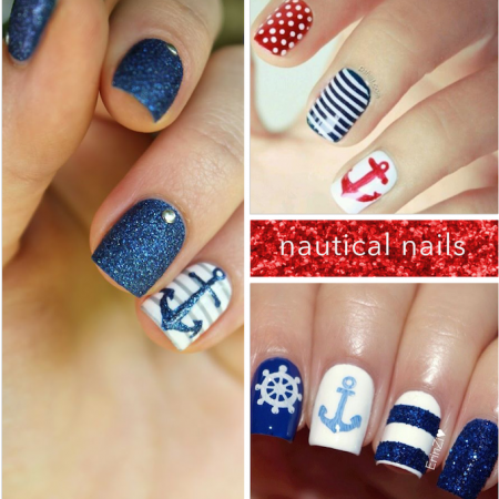 nautical nails trend