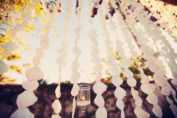 ombre flower petals wedding