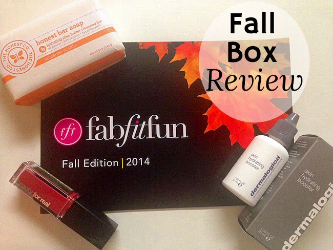 FabFitFun Fall 2014 Box Review