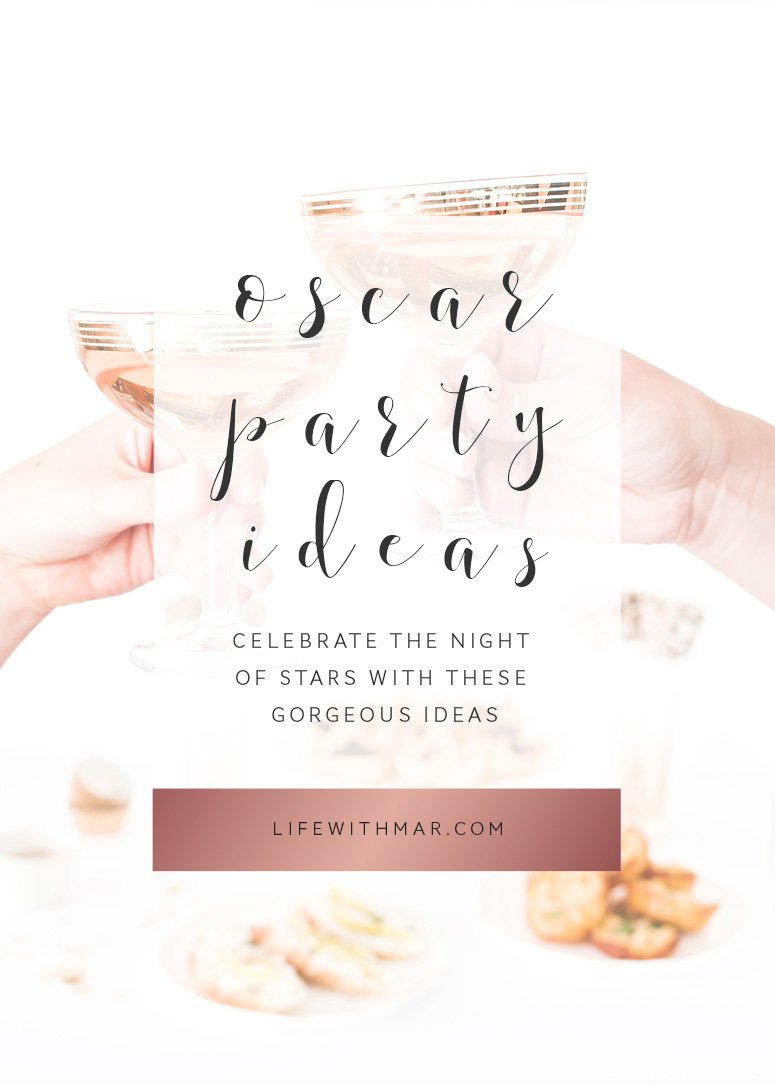 8 gorgeous oscar party ideas to celebrate the night of stars! Throw your own oscar party with these decor ideas.