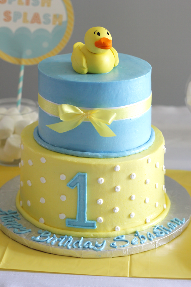 rubber ducky birthday cak