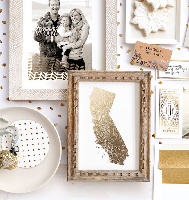 minted gold foil prints