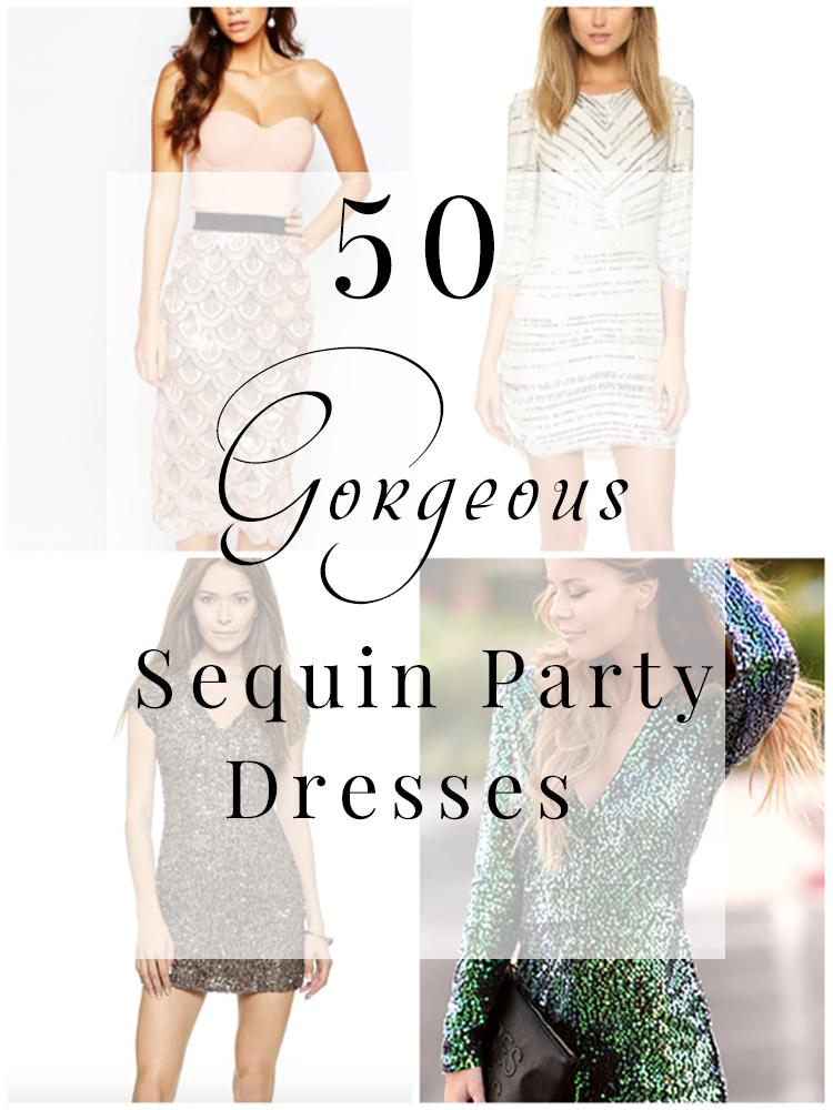 50 Gorgeous Sequin Party Dresses