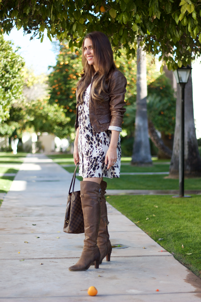 how to style an animal print dress