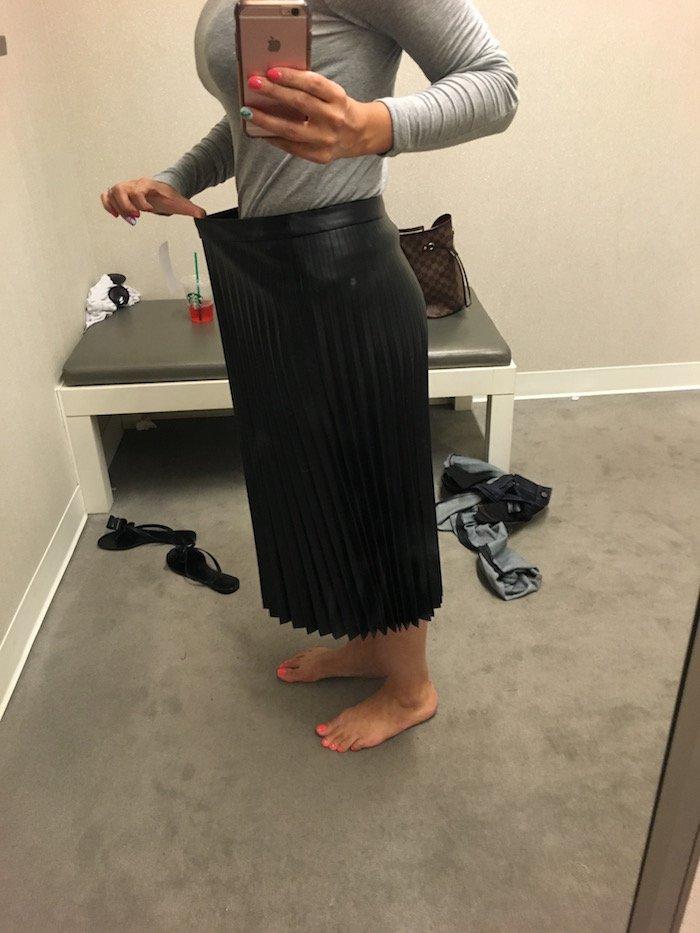 trouve faux leather skirt nsale