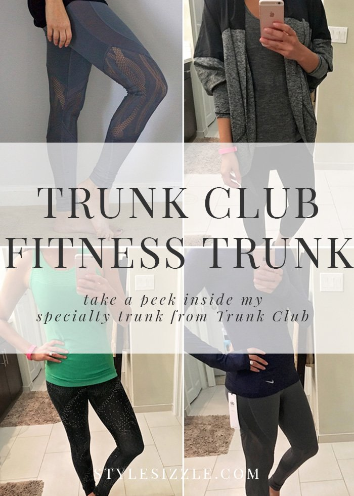 Trunk Club fitness trunk review. Inside this specialty trunk from Trunk Club for women. Cute athleisure, mesh yoga pants, cutout sports bras and more. Click to see everything that came in my trunk!