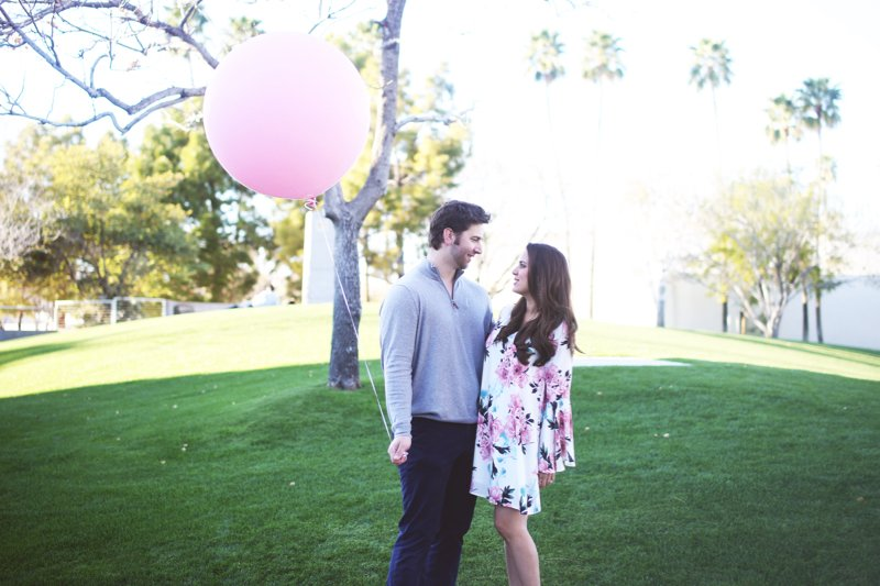 baby girl announcement ideas, a giant pink balloon! See more pics from this shoot for gender announcement ideas