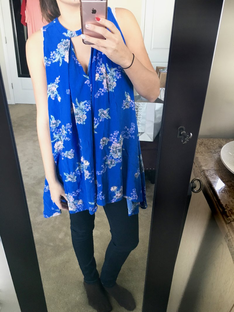 Cute free people floral tunic from Trunk Club for women. Click to see the rest of what came in this trunk from Trunk Club!