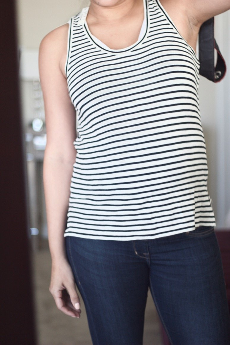 Madewell striped tank, see what else was inside my May trunk from Trunk Club!