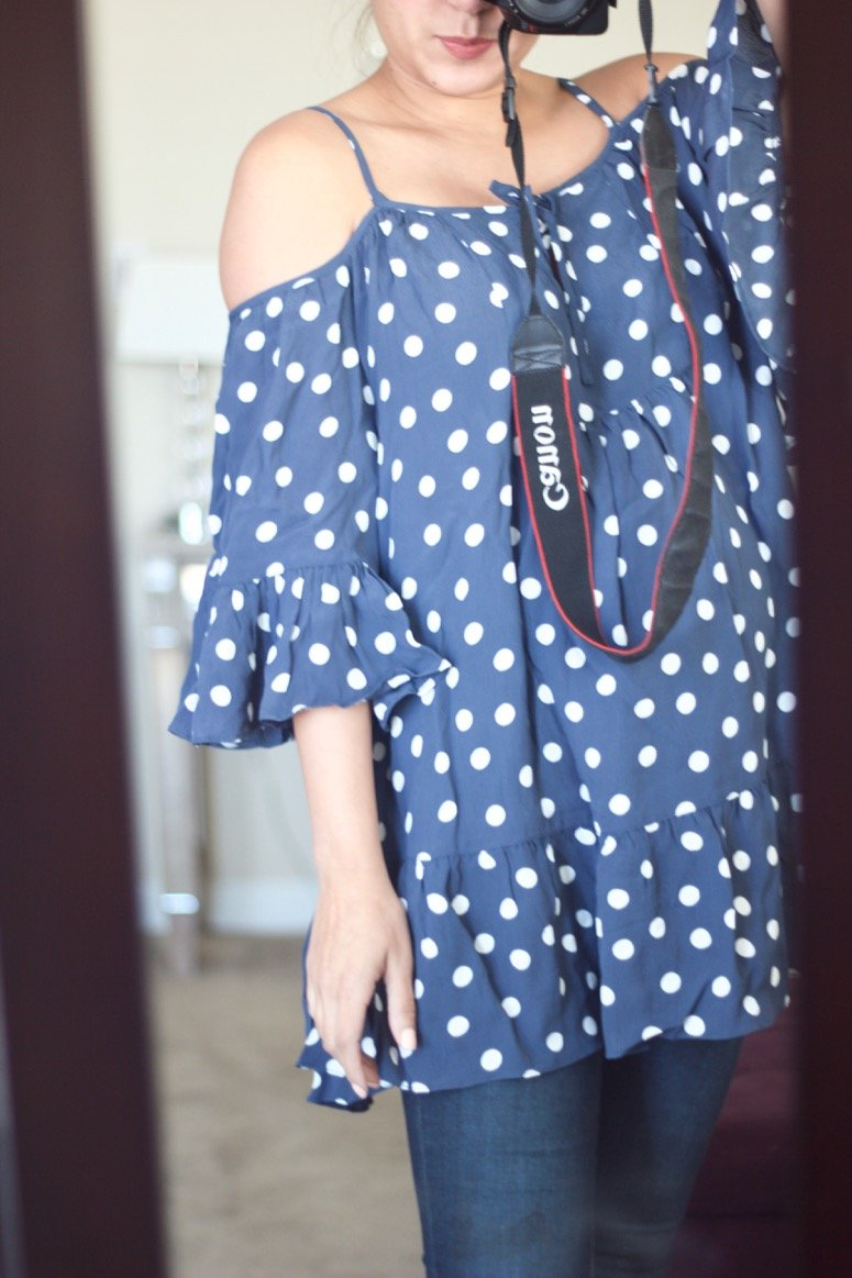 Tularosa hattie shift dress, this pretty polka dot dress was in my May Trunk from Trunk Club! Click to see the rest of the looks in my trunk.