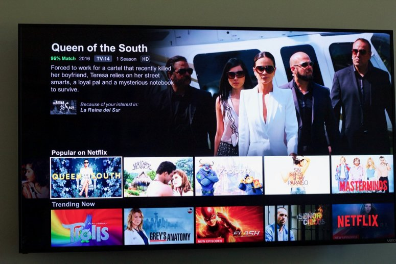Binge watching essentials, Queen of the South on Netflix.