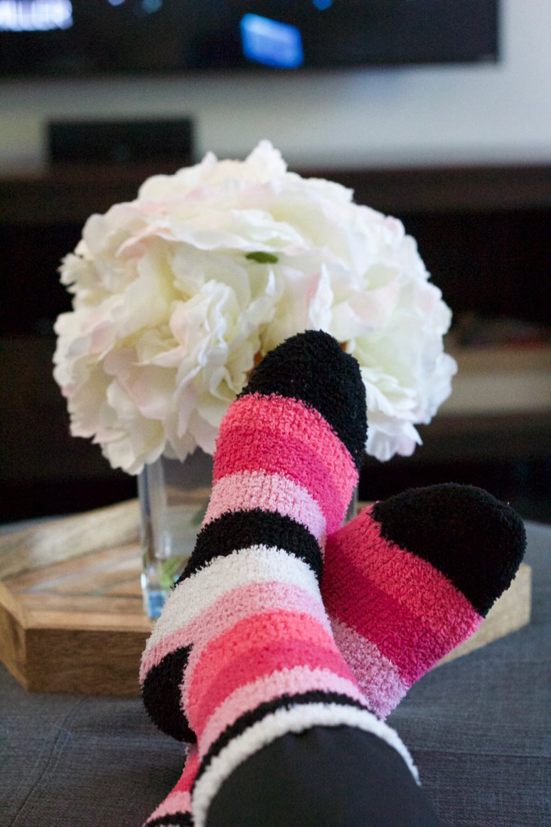 binge watching essentials, comfy socks. Everything you need for your next Netflix binge watching session!
