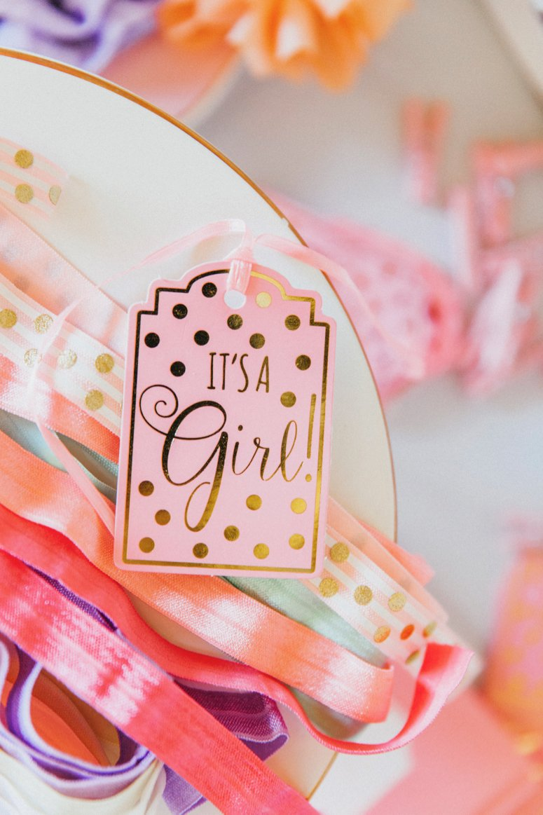 Baby girl baby shower decor. Click to see the rest of the details from this tea party baby shower!