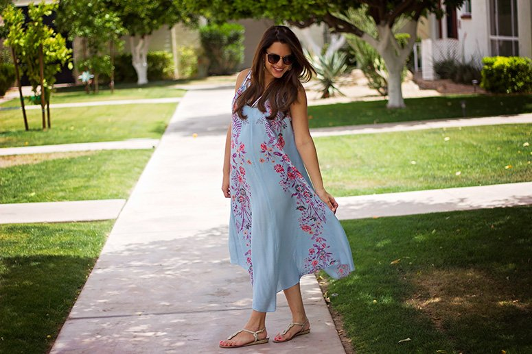 Free People Ahsbury dress, see how I styled this perfect summer maxi dress!