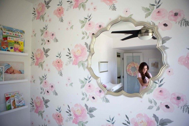 Floral nursery reveal, click to see the details from this gorgeous baby girl nursery