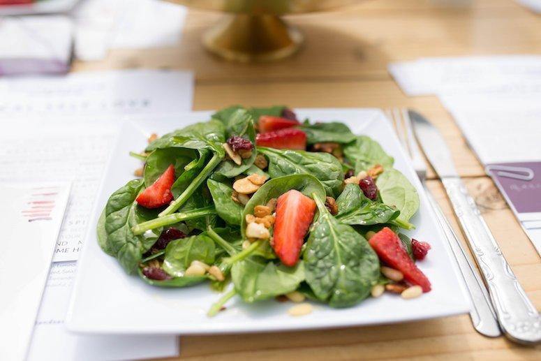 The Teapot strawberry salad