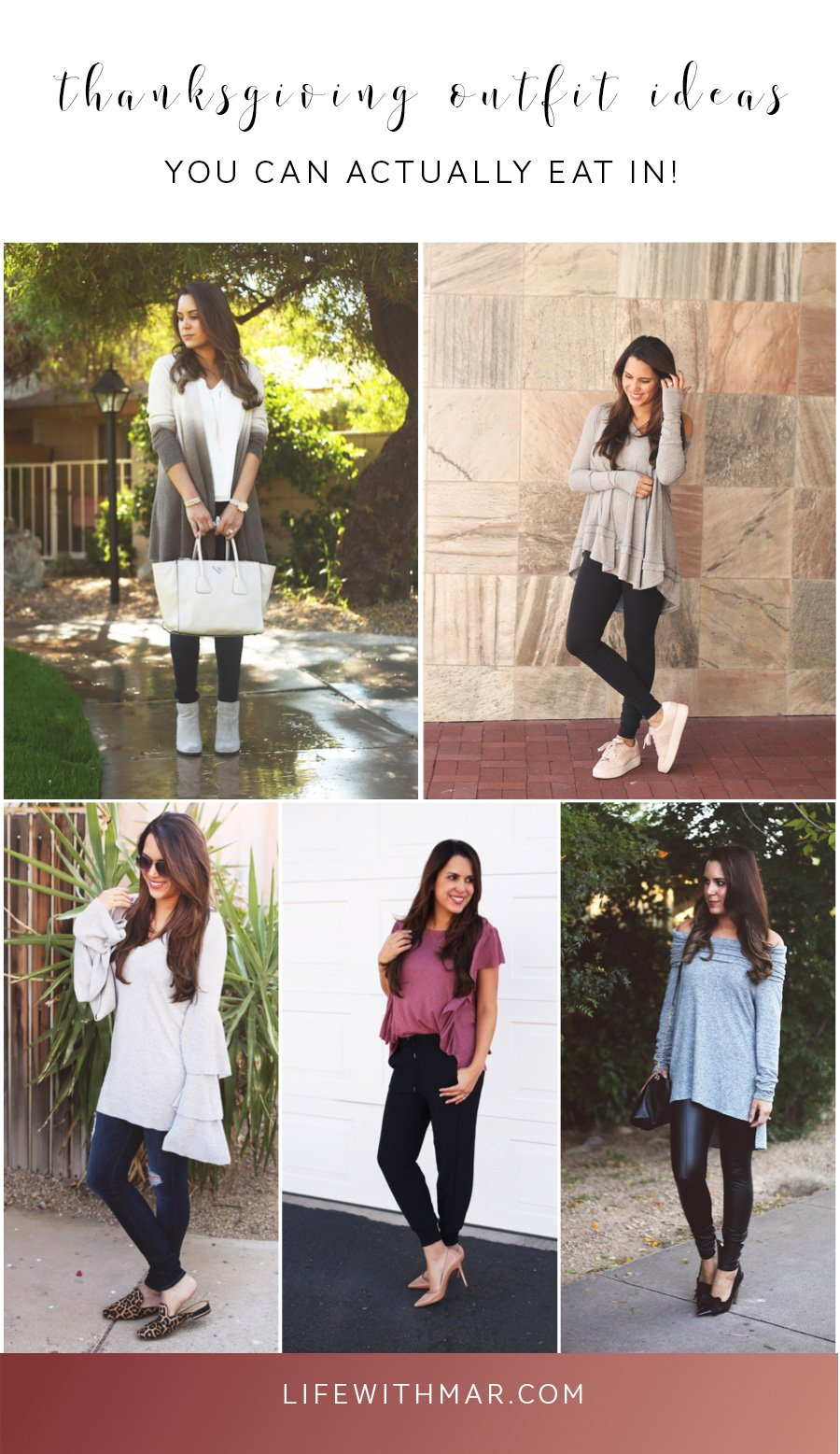 5 Thanksgiving outfitsyou can actually eat in. Cute and comfy Thanksgiving style!