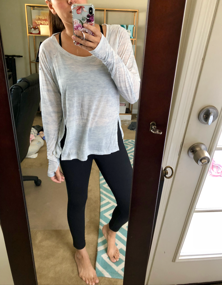 nike split high low hem cute athleisure outfits