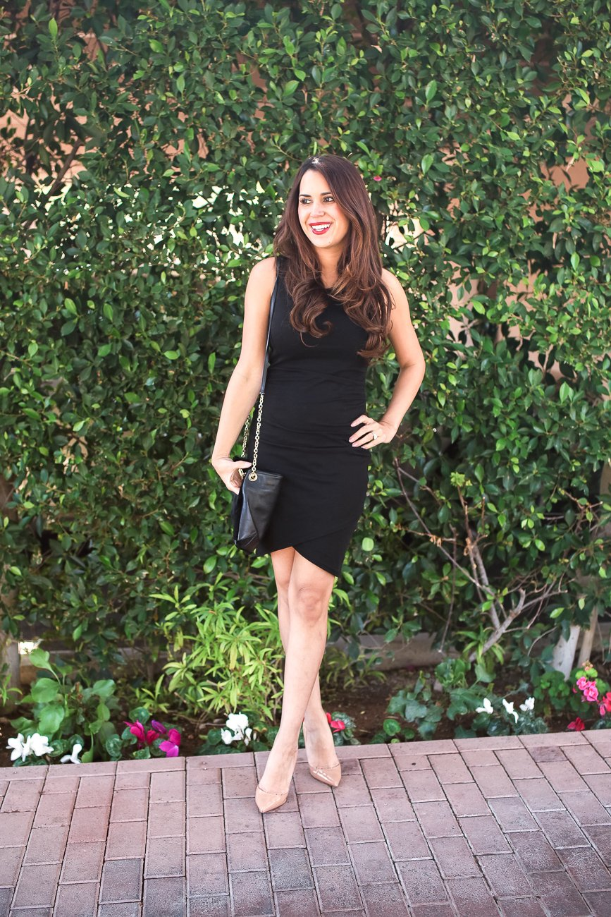 what to wear to an Arizona wedding little black dress