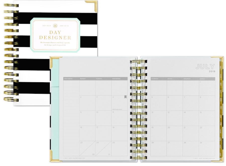 day designer monthly spread and review