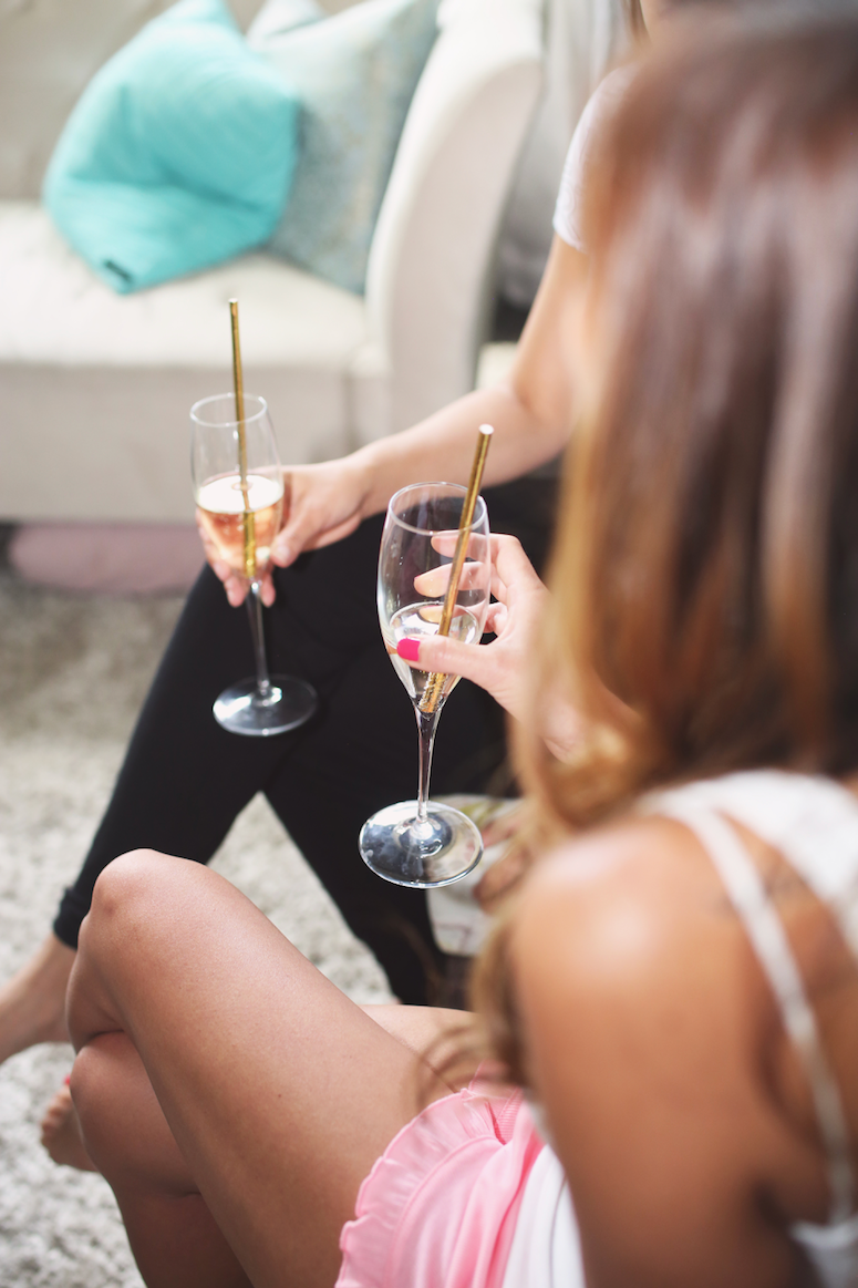 pjs and prosecco party idea